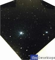 SAMPLE of Black Quartz Speckle Mirror Fleck Stardust Starlight Tiles Wall Floor