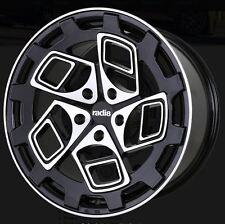 18X8.5 Radi8 CM9 5x100 +35 Black Machined Rims Fits Corolla Celica Wrx Brz
