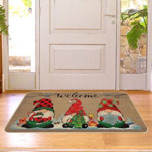 Non-Slip Christmas Door Mat Santa Claus Indoor Outdoor Welcome Mats 60x40cm NEW