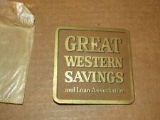 Vintage Great Western Savings Co. Booklet of Sewing Needles Vfc Never Used
