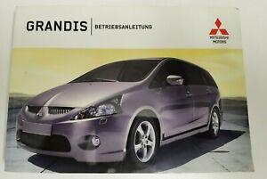 Mitsubishi Grandis  Handbuch 2003  Betriebsanleitung   Bedienungsanleitung