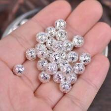 200pcs 4~8mm Round Metal Spacer Beads Jewelry Making Loose Charms Findings Bulk