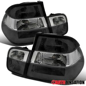 For 1999-2001 BMW E46 3-Series 323i 325i 4Dr Smoke Clear Tail Brake Lights Lamps