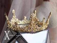 Sparkly Gold Rhinestones Wedding Party Bridal Crown Tiara Bride Headpiece 2018