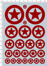 decals USA tank marks(red) for 1/35 1/48 or other scales (1910)