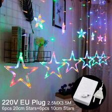 Rainbow Moon&Star Birthday Party Decor 138 LED Light String Wedding Venue Supply