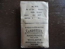 SANDSTEEL HAMPDEN MAINSPRING 12 SIZE # 7696 MODEL 1910 NOS