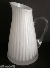 FABERGE GLACON NUIT OPAL CASED CUT TO CLEAR CRYSTAL JUG PITCHER  SIGNED NIB