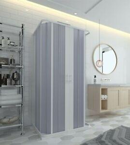 Box doccia 3 lati in pvc a soffietto cm.60x60x60, riducibile su misura