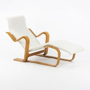 1960s Marcel Breuer for Knoll Isokon Chaise Lounge Chair New White Upholstery