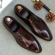 Real Leather Mens Dress Formal Shoes Business Work Oxfords Wedding Pointy Toe L