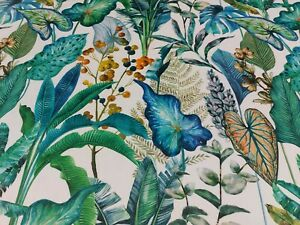 Tropical Botanical Winter Luxury Digital Print Velvet Fabric Curtains per Meter