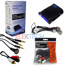 Car Audio Radio Auxiliary Input Interface Unit & Aux/RCA Cable Extender for Ford