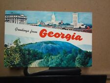 GREETINGS FROM GEORGIA Atlanta STONE MOUNTAIN Plastichrome COLOURPICTURE 1959
