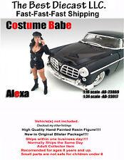 Costume Babe Alexa American Diorama 1:18 Resin Figure Sexy Girl Police