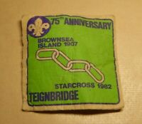 Scouts badge, 75th Anniversary, Brownsea Island 1907, Starcross 1982 Teignbridge