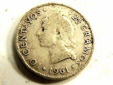 1961 Dominican Republic Ten (10) Centavos Silver Coin