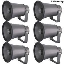 Lot of 6 PyleHome - Phsp6K - 6.3'' Indoor / Outdoor 25 Watt Pa Horn Speakers