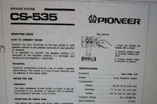 manuale utente speakers casse altoparlanti hifi pioneer cs-535 carta formato a4