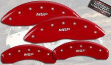 "2008-2012 Jeep Liberty Front + Rear Red ""MGP"" Brake Disc Caliper Covers 4pc Set"