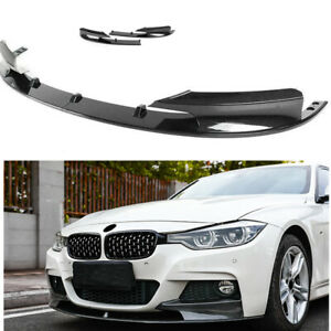 Front Bumper Cover Lip Carbon Fiber Style Surface For 2012-2018 BMW F30 3 Series