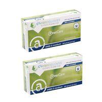 AmerCare (Large) Powder-Free Hybrid C-2 Gen 2.0 Disposable Gloves, 2 Boxes - 400