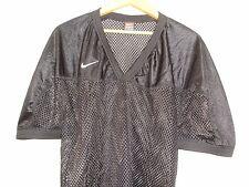 Nike Mens Black Vapor Double Mesh Baseball V Neck Jersey XL NWOT