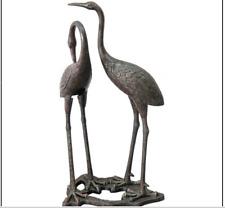 Metal Crane Heron Statue Art Accent Wall Decor Patio Lawn Pond Garden Yard Bird
