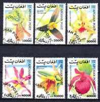 Flora - Orquideas Afganistán (3) serie completo de 6 sellos matasellados