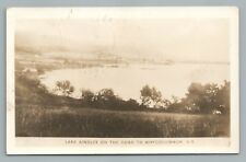 Lake Ainslee WHYCOCMAGH Nova Scotia RPPC Rare Vintage Photo Postcard 1947