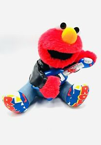 Tyco Elmo Sesame Street Rock & Roll Singing And Playing Guitar Plush 1998 Works