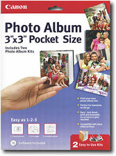 "NEW Canon 3"" x 3"" Pocket Size Inkjet Photo Album with Software #0041B009"