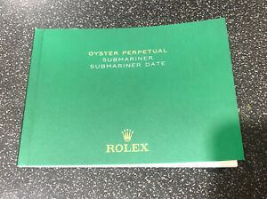 Rolex Submariner Date English Booklet/Manual Eng ORIGINAL