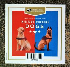 2019USA Forever Military Working Dogs - Booklet Block of 4 With Label Back  Mint
