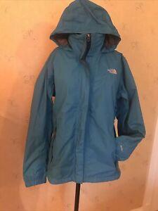 North Face Blue HyVent Rain Walking Hiking  Jacket - Xl Hooded 12 14 16 VGC