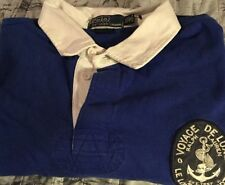 Polo Ralph Lauren Royal Blue s/s Polo Voyage Deluxe NYC 1967 Custom Fit XXL