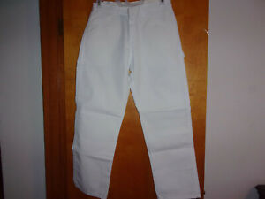 NEW MEN'S DICKIES WHITE PAINTER'S PANT  RELAXED FIT STRAIGHT LEG WORK PANTS..