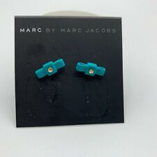 MARC JACOBS EARRINGS! :) All Tied Up Rubber Bow Studs in WINTERGREEN! :) NWT!