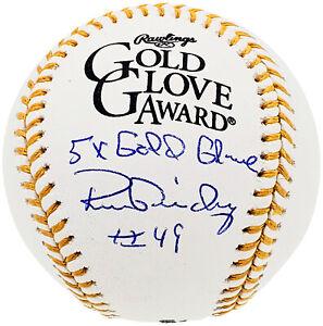 RON GUIDRY AUTOGRAPHED GOLD GLOVE BASEBALL YANKEES 5X GOLD GLOVE BECKETT 197059