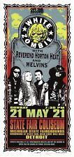 MINT & SIGNED White Zombie RHH Melvins 1995 Detroit Arminski Poster