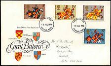 GB FDC 1974 Great Britons, Stevenage FDI  #C39527