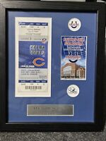 Indianapolis Colts Lucas Oil Stadium FIRST SEASON TICKET STUB PLAQUE FROM TEAM S