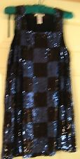 BRAND NEW GORGEOUS Alice + Olivia Sequin Dress VERY CUTE BLACK & BLUE  LINED- M