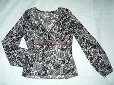 Geblümte klassische Langarm Damenblusen, - tops & -shirts im Tuniken-Stil
