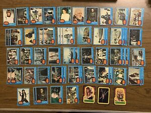62 Lot 1977 Topps Star Wars 1st Series Blue Card And Sticker From First Set