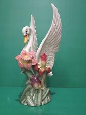 """Fitz & Floyd Swan Vase 13"""""""