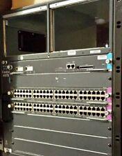Cisco 4500 4507R Chassis PLUS (2x) WS-X4148-RJ45V & (1x) WS-X4515 Sup IV NO PS