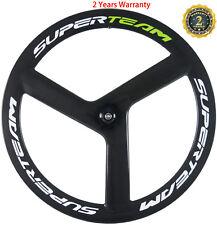 700C Tri Spoke Carbon Wheel Track/Road Bike Front WheelClincher/Tubular Wheel