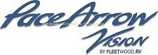 """ PACE ARROW VISION"" RV Graphic Blue & Grey Lettering Decal 57"" X 20"""