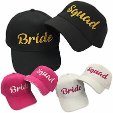 Bride / Squad Embroidered Baseball Cap - Wedding Hen Do Party Fashion Hat Caps